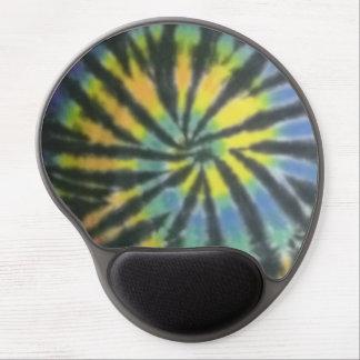 tie dye gel mouse pad black rainbow spiral