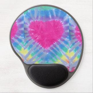 tie dye gel mouse pad rainbow heart