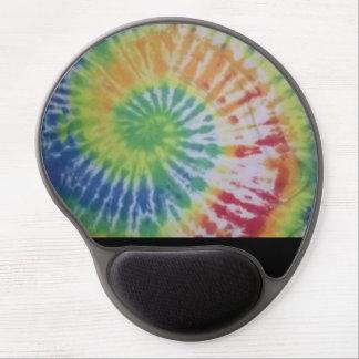tie dye gel mouse pad rainbow spiral