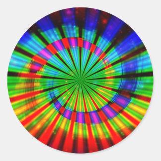 Tie-Dye Groovy Rainbow Classic Round Sticker
