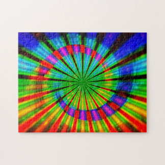 Tie-Dye Groovy Rainbow Jigsaw Puzzle