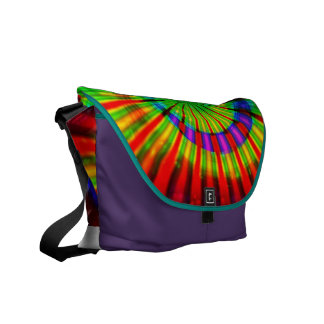 Tie-Dye Groovy Rainbow Courier Bag