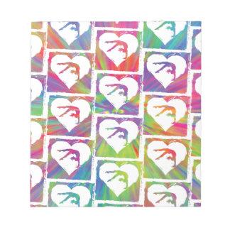 Tie Dye Gymnastics Pattern Notepad