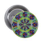 Tie Dye Hippie Kaleidoscaope Swirls Buttons