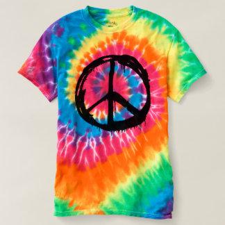 Tie Dye Hippy Peace Retro Hand Colorful Boho T-Shirt