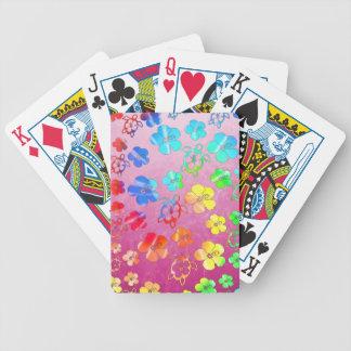Tie Dye Honu And Hibiscus Card Deck