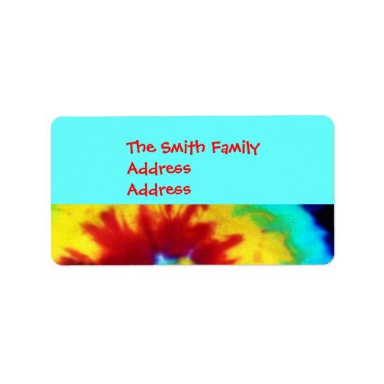 Tie Dye Look Address Labels