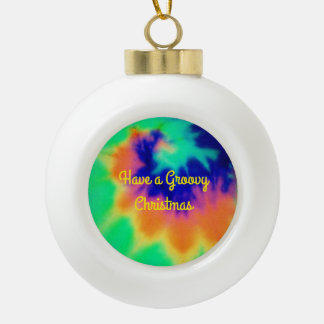 Tie Dye Look Christmas Ball Ornament