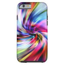 Tie Dye Multicolor Rainbow Electronic Swirls Tough iPhone 6 Case