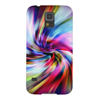 Tie Dye Multicolor Rainbow Electronic Swirls Cases For Galaxy S5