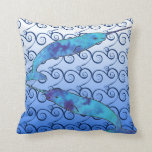 Tie Dye Narwhal Pillow