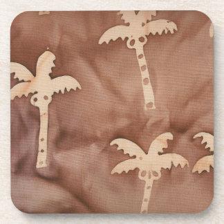 Tie Dye Palm Trees Drink Coasters