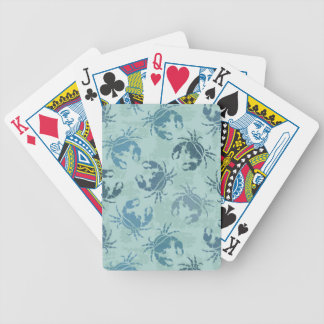 Tie Dye Pattern Of Crabs Bicycle Playing Cards
