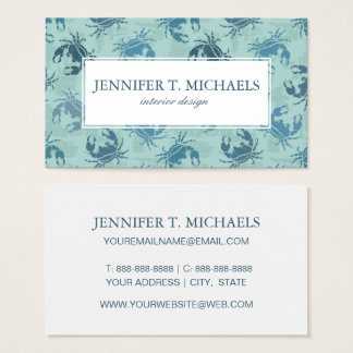 Tie Dye Pattern Of Crabs Business Card
