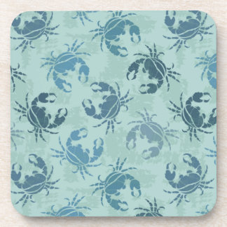 Tie Dye Pattern Of Crabs Drink Coaster