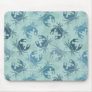 Tie Dye Pattern Of Crabs Mouse Pad