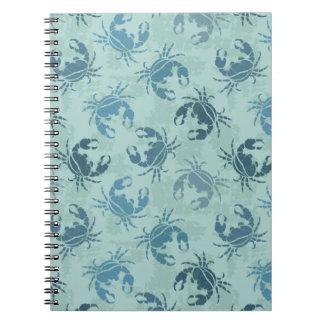Tie Dye Pattern Of Crabs Notebook