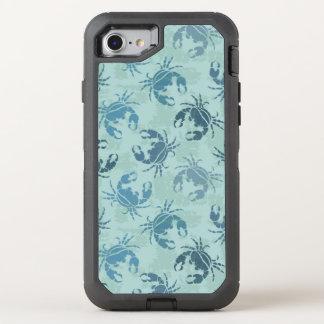 Tie Dye Pattern Of Crabs OtterBox Defender iPhone 8/7 Case
