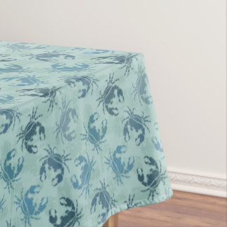 Tie Dye Pattern Of Crabs Tablecloth
