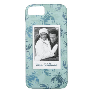 Tie Dye Pattern Of Crabs | Your Photo & Name iPhone 8/7 Case