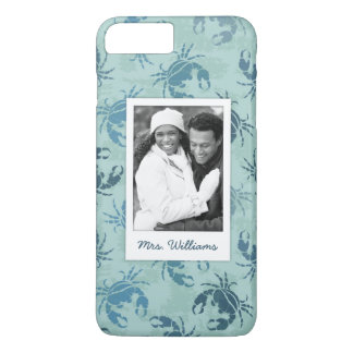 Tie Dye Pattern Of Crabs | Your Photo & Name iPhone 8 Plus/7 Plus Case