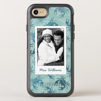 Tie Dye Pattern Of Crabs  Your Photo & Name OtterBox Symmetry iPhone 7 Case
