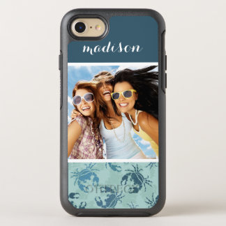 Tie Dye Pattern Of Crabs| Your Photo & Name OtterBox Symmetry iPhone 8/7 Case