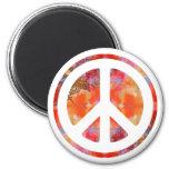 Tie Dye Peace 6 Cm Round Magnet