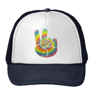 Tie Dye Peace Hand Cap
