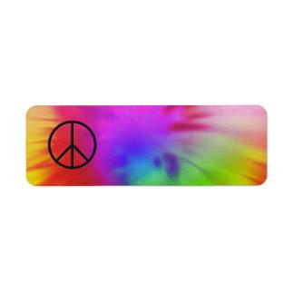 Tie Dye Peace Label