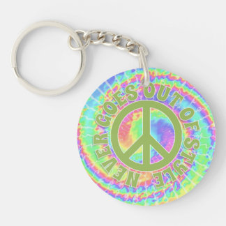 Tie dye Peace never goes out of style on Keychains