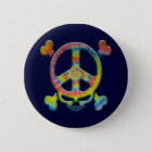 Tie-Dye Peace Pirate 6 Cm Round Badge