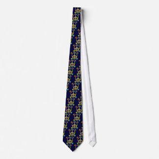 Tie-Dye Peace Pirate Tie
