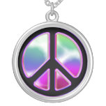 Tie Dye Peace Sign Necklace