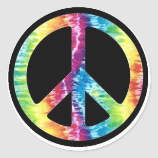 Tie Dye Peace Sign sticker