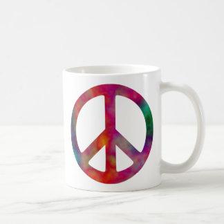 Tie Dye Peace Symbol Basic White Mug