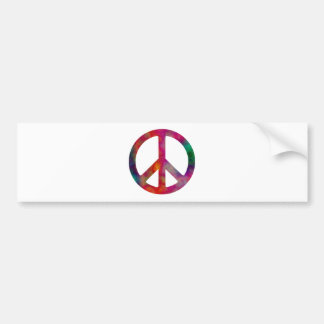 Tie Dye Peace Symbol Bumper Stickers