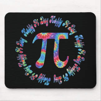 Tie Dye Pi Day Tees and Gifts Mouse Mat