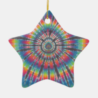 Tie Dye Rabbit Hole Christmas Ornament