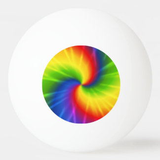 Tie Dye Rainbow Pattern Ping Pong Ball