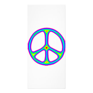 Tie Dye Rainbow Peace Sign Hippie Promo Rack Cards