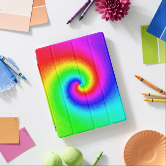 Tie-Dye Rainbow Swirl iPad Cover