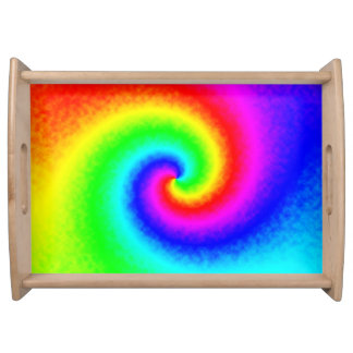 Tie-Dye Rainbow Swirl Serving Tray