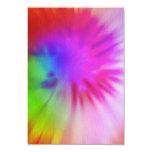 Tie Dye RSVP Cards 9 Cm X 13 Cm Invitation Card