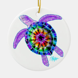 Tie Dye Sea Turtle Ornament