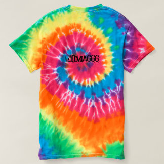 Tie dye shirt with Doma666 quote.
