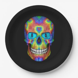 Tie Dye Skull Dead Zombie Undead Paper Plates  sc 1 st  Zazzle & Tie Dye Plates | Zazzle.co.uk
