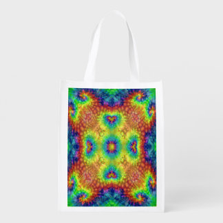 Tie Dye Sky Colorful Reusable Bags Market Totes