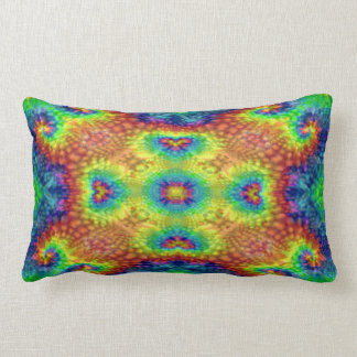 Tie Dye Sky Kaleidoscope Pattern Lumbar Pillows