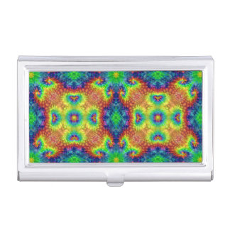 Tie Dye Sky Vintage Business Card Case